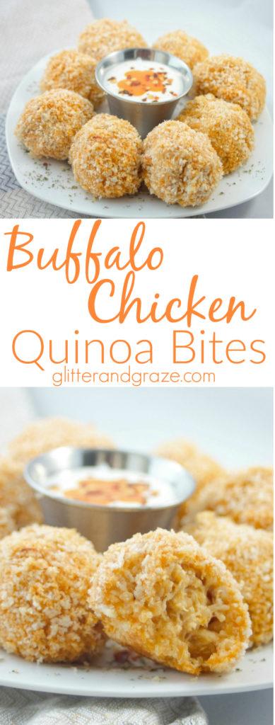 buffalo chicken quinoa bites