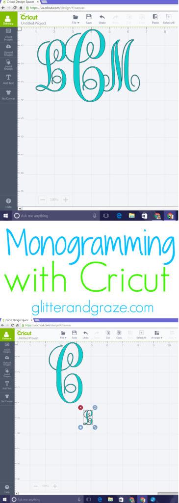 monogramming with cricut