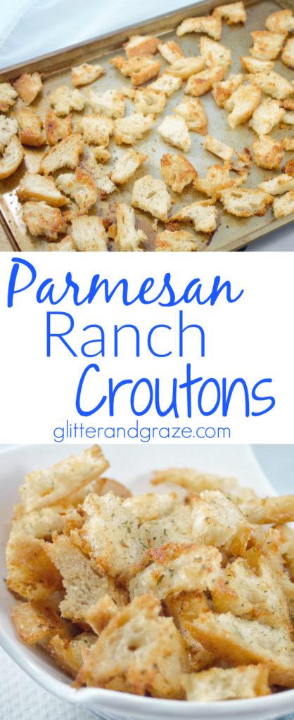 Parmesan ranch croutons