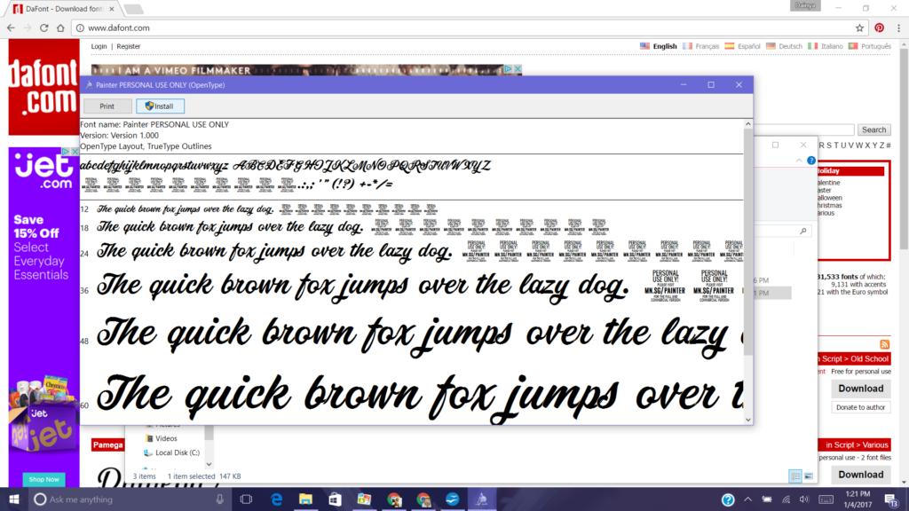 Cricut Explore Air- Free Fonts