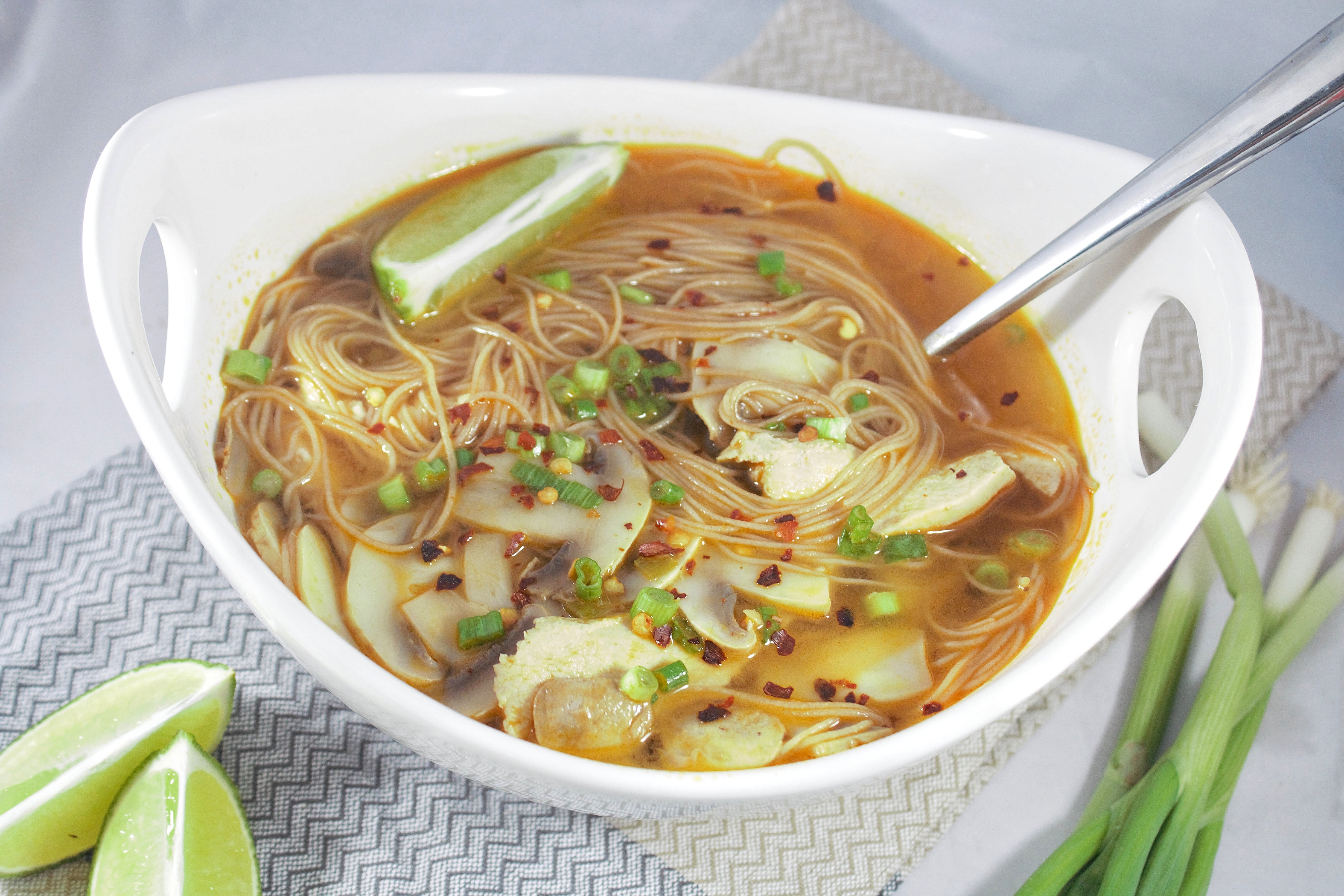 Calories in spicy asian vegetable soup