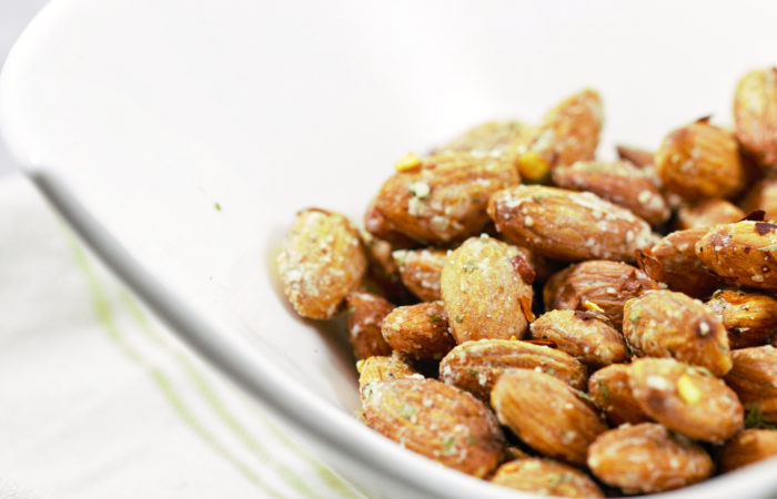 spicy Parmesan ranch almonds