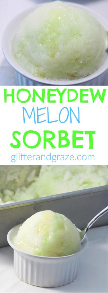 honeydew melon sorbet