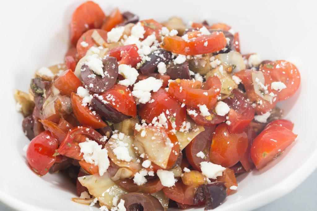 Mediterranean Bruschetta with whipped feta