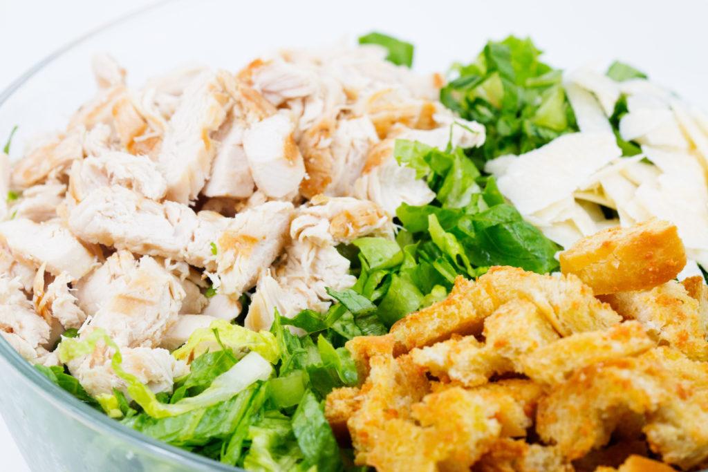chopped caesar salad  glitter and graze