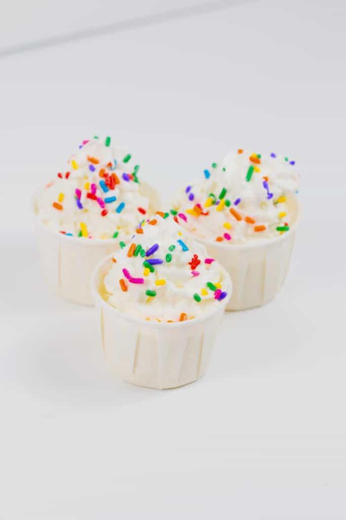 Birthday Cake Pudding Shots