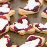 Cranberry pomegranate goat cheese tartlets