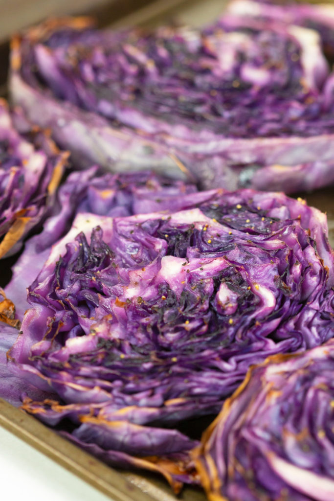 cabbage steaks with balsamic dressing