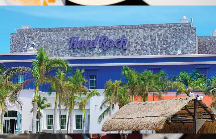 photo collage of the food at Hard Rock Rivera Maya 2020