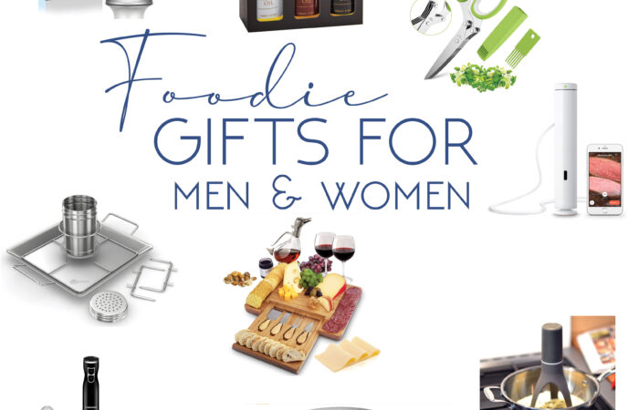 a photo collage of foodie gifts for men and women that you can buy off amazon